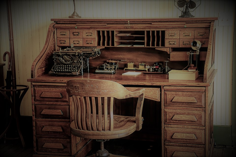 Your writer's sense can be honed at vintage office desks. Like this one.